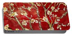 Sac Rouge Avec Fleurs D'almandiers Portable Battery Charger