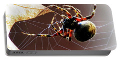 Sac Spider Catches A Leaf Portable Battery Charger