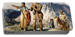 Sacagawea With Lewis And Clark During Their Expedition Of 1804-06 Portable Battery Charger