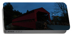 Portable Battery Charger featuring the photograph Sachs Bridge At Night by Liza Eckardt