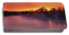 Sacramento River Sunrise Portable Battery Charger