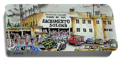 Portable Battery Charger featuring the painting Sacramento Solons by Terry Banderas