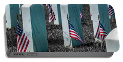 Portable Battery Charger featuring the photograph Sacramento Valley Veterans Cemetary by Bill Gallagher