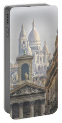 Sacre-coeur  Portable Battery Charger by Catherine Alfidi
