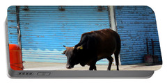 Portable Battery Charger featuring the photograph Sacred Cow 1 by Randall Weidner