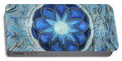 Sacred Geometry Portable Battery Charger by Angela Stout