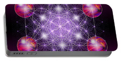 Sacred Geometry Metatron Portable Battery Charger