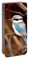Sacred Kingfisher Portable Battery Charger by Mike  Dawson