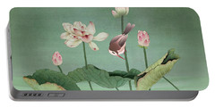 Sacred Lotus Flower Portable Battery Charger
