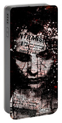 Portable Battery Charger featuring the digital art Sad News by Marian Voicu