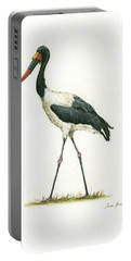 Saddle Billed Stork Portable Battery Charger