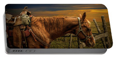 Saddle Horse On The Prairie Portable Battery Charger