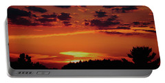 Portable Battery Charger featuring the photograph Sadie's Sunset by Bruce Patrick Smith