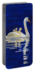 Portable Battery Charger featuring the painting Safe Harbor by Rodney Campbell