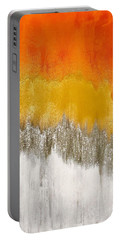 Portable Battery Charger featuring the painting Saffron Sunrise by Alisha Anglin