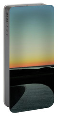 Portable Battery Charger featuring the photograph Sag Harbor Sunset 3 In Black And White by Rob Hans