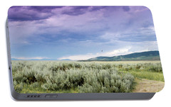 Portable Battery Charger featuring the photograph Sage Fields  by Dawn Romine