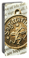 Sagittarius Astrology Design Portable Battery Charger by Jorgo Photography - Wall Art Gallery