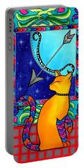 Sagittarius Cat Zodiac Portable Battery Charger