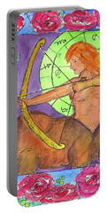 Portable Battery Charger featuring the painting Sagittarius by Cathie Richardson