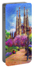 Sagrada Familia And Park,barcelona Portable Battery Charger