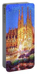 Sagrada Familia At Night Portable Battery Charger