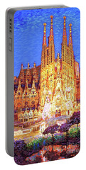 Sagrada Familia At Night Portable Battery Charger