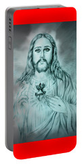 Sagrado Corazon De Jesus Portable Battery Charger