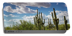 Portable Battery Charger featuring the photograph Saguaro And Blue Skies Ahead  by Saija Lehtonen