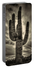 Saguaro And Storm Clouds Portable Battery Charger