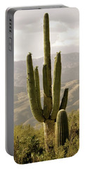 Portable Battery Charger featuring the photograph Saguaro by Brenda Pressnall