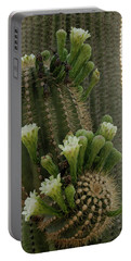 Portable Battery Charger featuring the photograph Saguaro Buds And Blooms by Gaelyn Olmsted