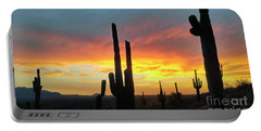 Saguaro Sunset Portable Battery Charger by Anthony Citro