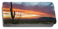 Saguaro Sunset At Lost Dutchman 2 Portable Battery Charger by Greg Nyquist