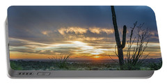 Saguaro Sunset At Lost Dutchman Portable Battery Charger by Greg Nyquist