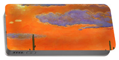 Saguaro Sunset Portable Battery Charger by Johnathan Harris