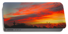 Saguaro Winter Sunrise Portable Battery Charger