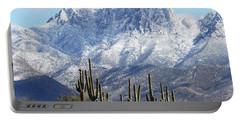 Saguaros At Four Peaks With Snow Portable Battery Charger