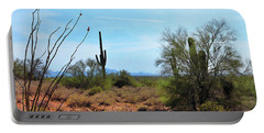 Saguaros In Sonoran Desert Portable Battery Charger