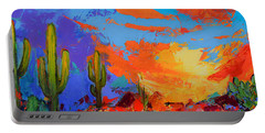 Saguaros Land Sunset Portable Battery Charger