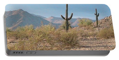 Saguaros On A Hillside Portable Battery Charger