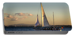 Sail Away From Lisbon Portable Battery Charger