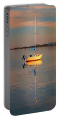 Sail Boat In Roanoke Sound 1x2 Ratio Photo Painting Img_3969 Portable Battery Charger