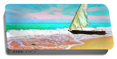 Sail Boat On The Shore Portable Battery Charger