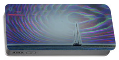 Sailboat And Bubbles Portable Battery Charger