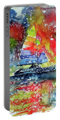 Sailboat At Sunset II Portable Battery Charger by Kovacs Anna Brigitta