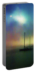 Sailboat At Sunset Portable Battery Charger