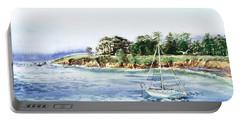 Sailboat At The Seashore Portable Battery Charger