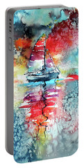 Sailboat At The Sinshine Portable Battery Charger by Kovacs Anna Brigitta
