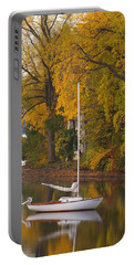 Sailboat In Alburg Vermont  Portable Battery Charger